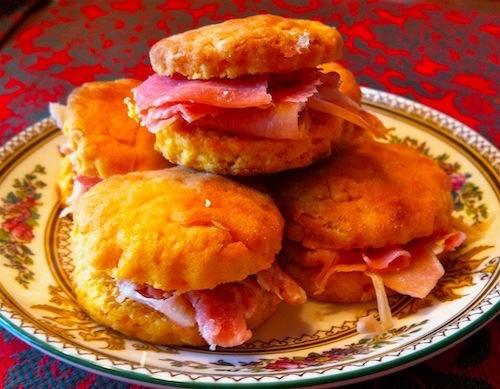 Sweet potato & ham biscuits of Bay Haven Inn of Cape Charles