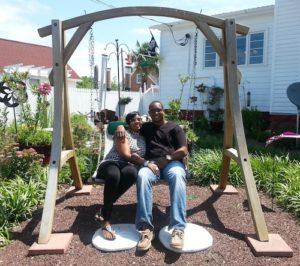 Couple on Cape Charles b&b swing