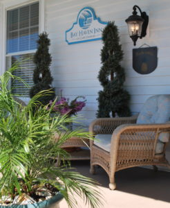 Front porch of Bay Haven Inn of Cape Charles