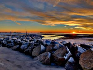Chesapeake Bay winter sunset