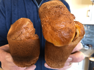One deflated popover and one fully risen popover