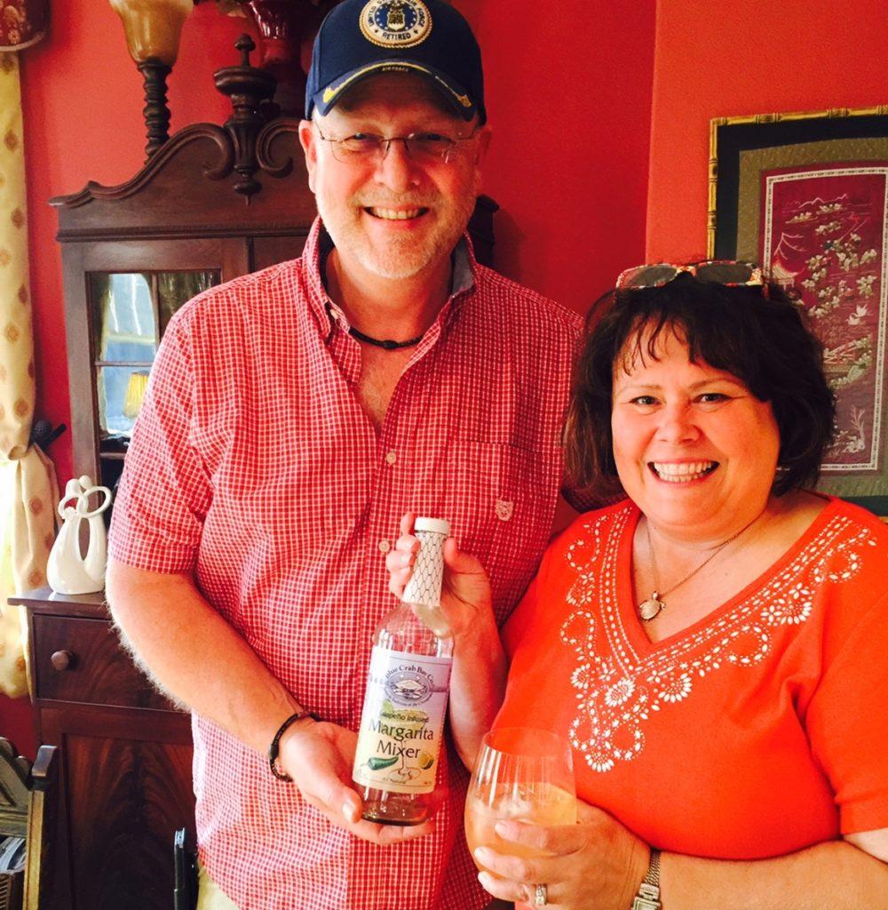 Spicing up our Margaritas with Blue Crab Bay Jalapeño Margarita mixer