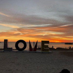 The LOVE sign in Cape Charles, VA