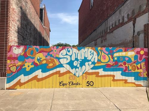 Summer of Love Mural, Cape Charles, VA