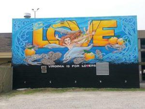 VA Beach LOVE sign