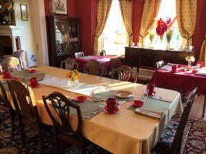 Bay Haven Inn of Cape Charles breakfast table