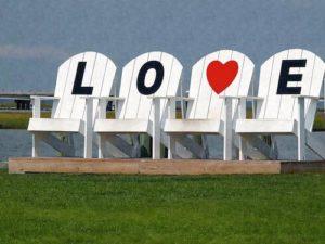 Chincoteague Island LOVE Sign